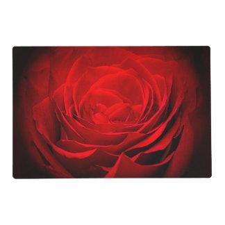 El rosa rojo pintado Placemat-Imponente de la Salvamanteles