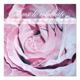 """El rosa rosado celebra a Bachelorette que el Invitación 5.25"""" X 5.25"""""""