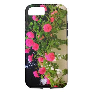 El rosa rosado cerca con piquete el caso del funda iPhone 7