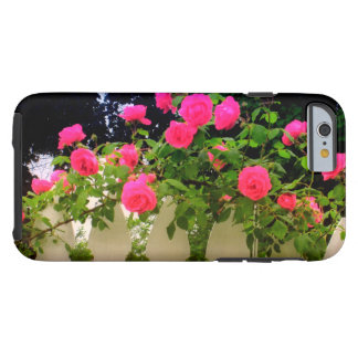 El rosa rosado cerca con piquete el caso del funda resistente iPhone 6
