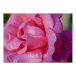 El rosa rosado le agradece tarjeta de felicitación