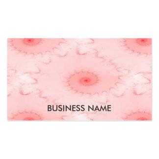 El rosa se ruboriza fractal del nautilus tarjeta de visita