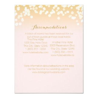 """El rosa se ruborizan y la tarjeta de información invitación 4.25"""" x 5.5"""""""