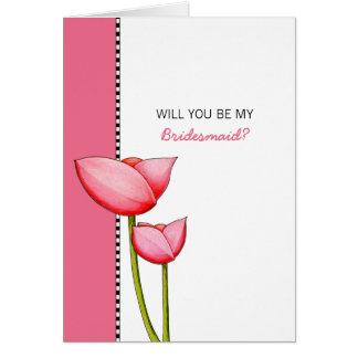 El rosa simple de las flores sea mi tarjeta de la