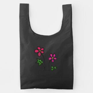 El rosa suave florece el bolso reutilizable bolsa reutilizable