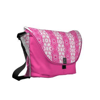 El rosa teja la bolsa de mensajero bolsas de mensajeria