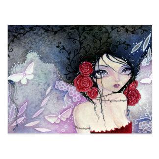 El rosa tiene espinas - postal