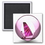 El rosa Windsurf imán de los diseños