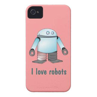 El rosa y el azul I aman los casos del iPhone 4s Case-Mate iPhone 4 Protectores