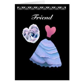 El rosa y el azul sean mi invitación del boda de tarjeta pequeña