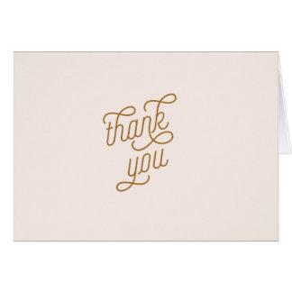 el rosa y el flamenco del oro le agradecen cardar tarjeta pequeña