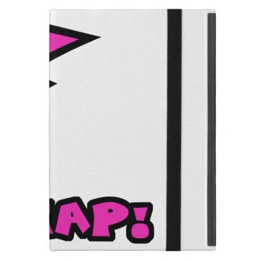 El rosa y el negro lindos de Kawaii Zap el perno d iPad Mini Cobertura