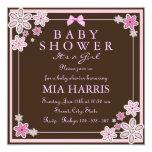 El rosa y la fiesta de bienvenida al bebé moderna invitación 13,3 cm x 13,3cm