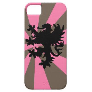 El rosa y la raya de Brown estallaron el caso del  iPhone 5 Case-Mate Cárcasa