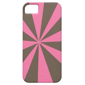 El rosa y la raya de Brown estallaron el caso del  iPhone 5 Cobertura
