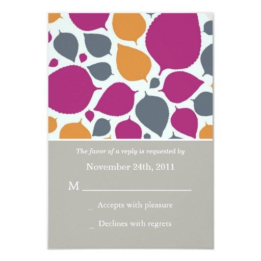 El rosa y las tarjetas modernas anaranjadas de comunicado personalizado