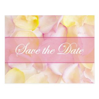 El rosa y los pétalos color de rosa amarillos ahor tarjetas postales