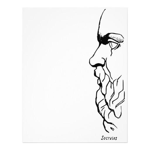 El rostro de Sócrates Membrete Personalizado