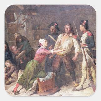 El Royalist, c.1789 Pegatina Cuadrada