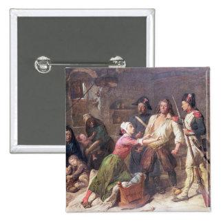 El Royalist, c.1789 Pin Cuadrado