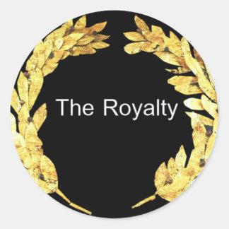 El Royalty.png Pegatina Redonda
