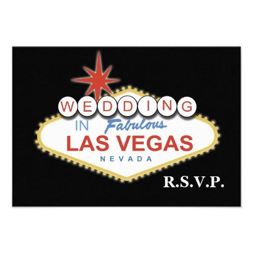 El rsvp del boda de Vegas carda el estándar 3,5 x  Anuncios Personalizados