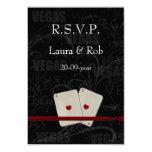 El rsvp del boda de Vegas carda el estándar 3,5 x Invitación 8,9 X 12,7 Cm