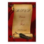 el rsvp del boda del vintage carda el estándar 3,5 comunicados personales