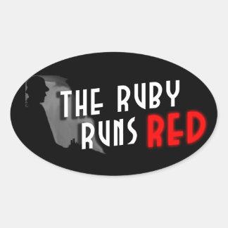 El rubí funciona con al pegatina rojo del logotipo