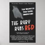 """El rubí funciona con el poster rojo - 11x17 """""""