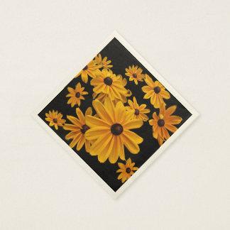 El Rudbeckia Susan observada negro florece las Servilletas De Papel