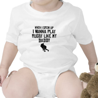 El rugbi del juego tiene gusto de mi papá traje de bebé