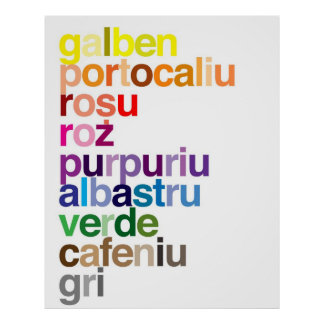 El rumano colorea el poster