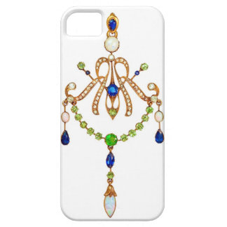 El ruso de Nouveau del arte Jeweled el caso Funda Para iPhone SE/5/5s