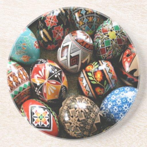 El ruso Eggs el práctico de costa Posavasos Diseño