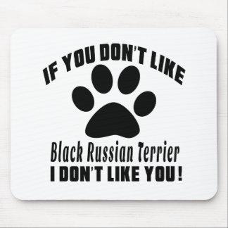 El ruso negro Terrier no tiene gusto de diseños Tapete De Ratones