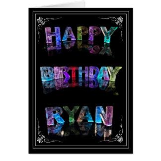 El Ryan conocido en 3D se enciende (la fotografía) Tarjeta De Felicitación