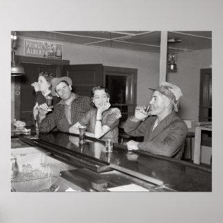 El sábado por la noche en el salón, 1937 impresiones