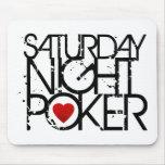 El sábado por la noche póker alfombrilla de ratón