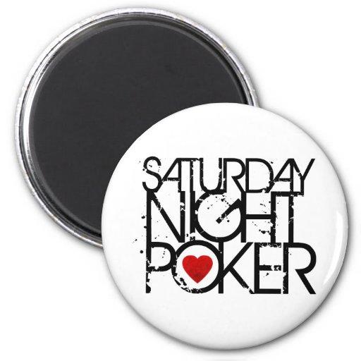 El sábado por la noche póker imanes
