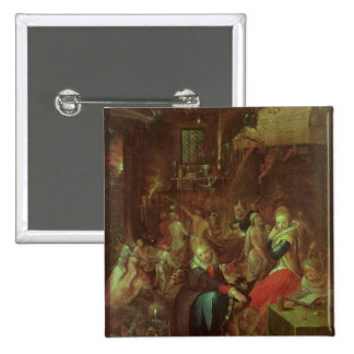 El Sabat de las brujas, 1606 Pin Cuadrada 5 Cm