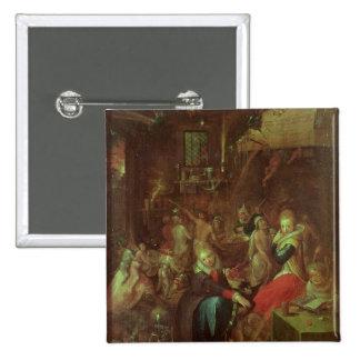 El Sabat de las brujas, 1606 Pin Cuadrado