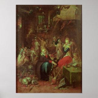 El Sabat de las brujas, 1606 Póster