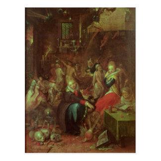 El Sabat de las brujas, 1606 Tarjeta Postal