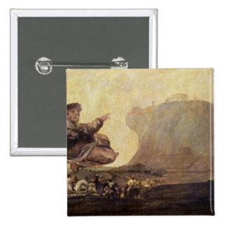 El Sabat de las brujas, c.1819-23 Pin Cuadrada 5 Cm