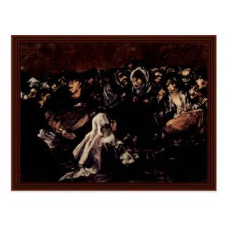 El Sabat de las brujas, por Francisco De Goya Postal