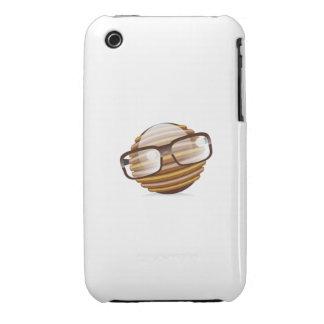 El sabelotodo - el smiley del friki con los funda para iPhone 3 de Case-Mate