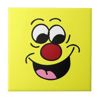 El sabelotodo jadea la cara sonriente Grumpey Azulejo