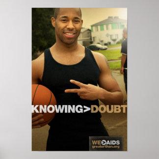 El saber > poster del baloncesto de la duda