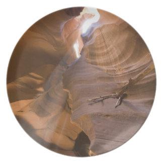 El sacacorchos en el barranco superior del antílop plato